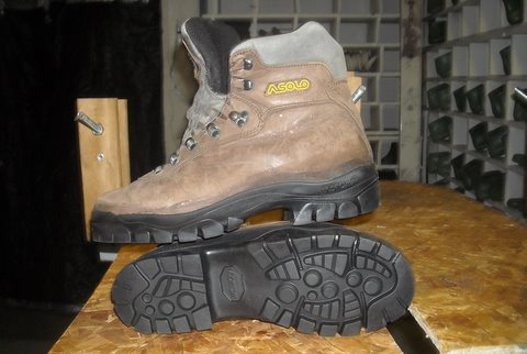Resoled Asolo Hiking Boot with Vibram Bifida Sole